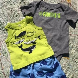 Other - BABY SUMMER 3-Piece COMBO Size 0-3 Months
